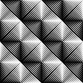 image of quadrangles  - Design seamless square convex pattern - JPG