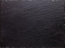 picture of slating  - Black slate stone texture background - JPG