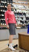 Woman   At Shoes Shop