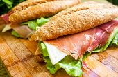 Sandwich With Ham Bocadillo poster