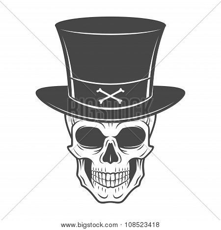 Steampunk skeleton with high hat