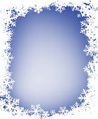 pic of christmas cards  - grunge decorative frame with lots of snowflakes ideal for christmas cards - JPG