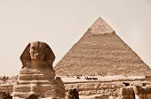 Sphinx And Pyramid Of Khafra