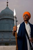 Young Sikh Man Spear At Paonta Sahib
