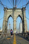 Morning On Brooklyn Bridge