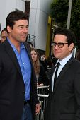 LOS ANGELES - JUN 8:  Kyle Chandler, J.J. Abrams & Wife arriving at the