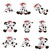 Cute Christmas Cow Set