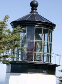 pic of mear  - A view of the light that tops the smallest lighthouse in Oregon at Cape Meares - JPG