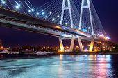 Big Obukhovsky Cable-stayed Bridge, Neva River poster