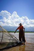 Landscape Of Inle Lake, Myanmar poster