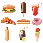 foto of hot dog  - web icon set  - JPG