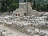Ruins Of Palace Of Knossos