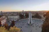 Piazza del Popolo Rome scenic view