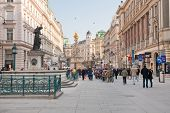 Graben, Main Historical Street In The Center Of Old Vienna