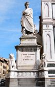 picture of alighieri  - The statue of Dante Alighieri in Florence Italy - JPG