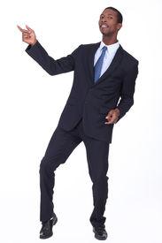 pic of exhibitionist  - black man in suit - JPG