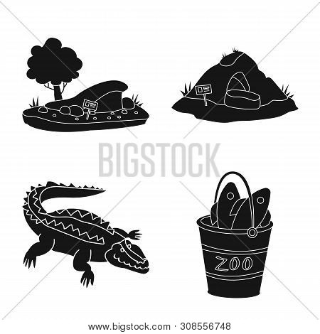 poster of Vector Design Of Fauna And Entertainment Sign. Collection Of Fauna And Park Stock Symbol For Web.