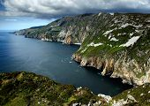 picture of ireland  - Cliffs of Slieve in the West of Ireland - JPG