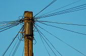 Telegraph Pole with phone lines