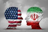 Iran Us Tensions Middle East Clash As A Usa Or United States Crisis In The Persian Gulf Concept As A poster
