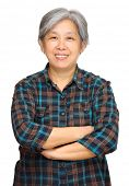 stock photo of beautiful senior woman  - mature asian woman - JPG