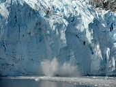 Ice falling from Glacier