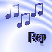 Rap Music - 3d Illustration, 3d Rendering: Symbol Image For Music, Entertainment And Culture poster