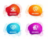 Liquid Badges. Set Of Search, Heart And Best Manager Icons. Search People Sign. Find Results, Star R poster