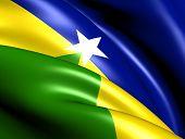 Flag Of Rondonia, Brazil.