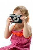 Little Girl With Retro Camera