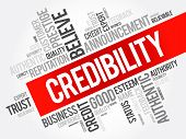 Credibility Word Cloud Collage, Business Concept Background poster