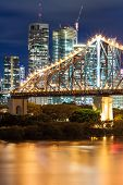 story bridge at night