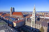 Aerial Of Munich In Beautiful Weather