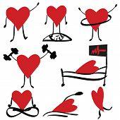Medical Icons Set, Health, Cardiology