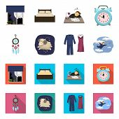 Vector Design Of Dreams And Night Icon. Collection Of Dreams And Bedroom Stock Vector Illustration. poster