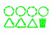 Recycle Icon Vector. Recycle Recycling Set Symbol Vector. Eps10 poster