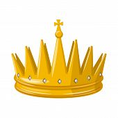 Isolated Object Of Monarchy And Gold Sign. Collection Of Monarchy And Heraldic Bitmap Icon For Stock poster