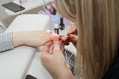 Manicuring Nails - Application Of Base Coat. Nail Master poster