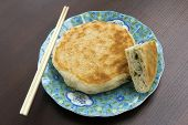Sesame pancake with green onion