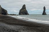 Reynisdrangar Basalt Sea Stacks, Iceland poster