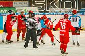 University hockey league final match