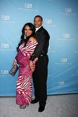 LOS ANGELES - MAR 10:  Estella Lopez Spears; Aaron D. Spears arrives at the Bold and Beautiful 25th