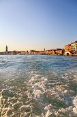 Grand Canal, View From Vaporetto In Venice
