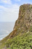 Cabo Da Roca, Portugal. Lighthouse And Cliffs Over Atlantic .cabo Da Roca Over The Cliffs With Small poster