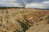 image of fairyland  - canyon and hoodoos of Fairyland Point at Bryce National Park Utah USA - JPG