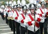NEW YORK - MAY 29:  Young musicians participate in the Little Neck/Douglaston Memorial Day Parade Ma