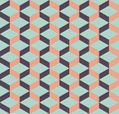 Abstract Geometric Isometric Seamless Pattern Background. Graphic Design Element Template Can Be Use poster