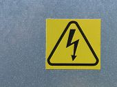 High Voltage Electricity Warning Sign
