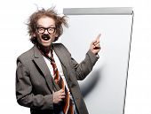 stock photo of stereotype  - Crazy professor  - JPG