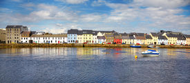 image of claddagh  - Panorama of the Claddagh in Galway city Ireland - JPG